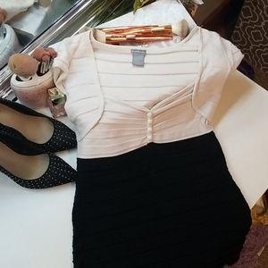 Charlotte Russe Cap Sleeve Sweetheart Shirt